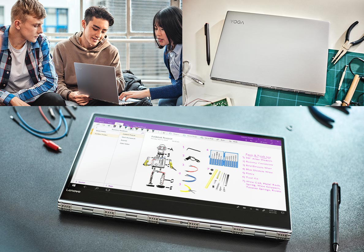 LENOVO Yoga – das 2-in-1-Notebook vereint vielseitige Konfigurationen mit innovativer Technik